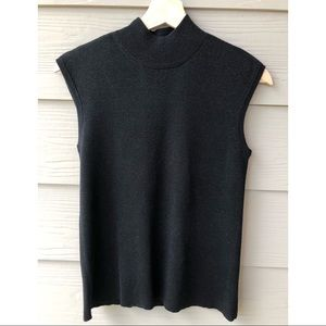 Coldwater Creek Black Shimmer Sleeveless Knit Top